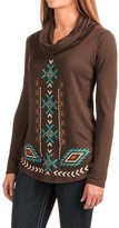 Roper Aztec Sweater-Knit Shirt - Cowl Neck, Long Sleeve (For Women)