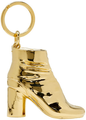 Maison Margiela SSENSE Exclusive Gold Tabi Boot Keychain