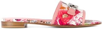 Salvatore Ferragamo Gancini slides sandals