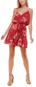 Trixxi Juniors' V-Neck Fit & Flare Dress