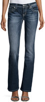 Miss Me Faded Skinny Boot-Cut Denim Jeans, Medium Wash 297