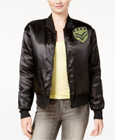 Hybrid Juniors' Military Patch Bomber Jacket