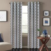 Bed Bath & Beyond Tile Scroll Window Curtain Panel in Blue