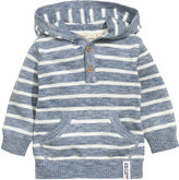 H&M Hooded Cotton Knit Sweater - Blue/striped - Kids