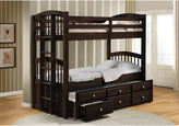 Acme Micah Espresso Twin Bunk Bed with Trundle