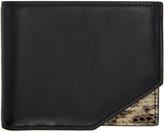 Jil Sander Black Leather & Python Bifold Wallet