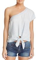 Bella Dahl One-Shoulder Tie Front Top - 100% Exclusive