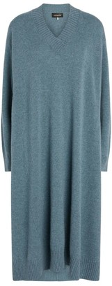 eskandar Cashmere V-Neck Sweater Dress