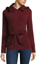 YMI Jeanswear Belted Fleece Jacket-Juniors