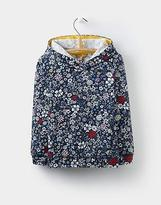 Joules Girls Marlston Hooded Sweatshirt 3-12 yrs in French Navy Ria Ditsy Floral