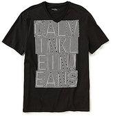 Calvin Klein Jeans Outlines Short-Sleeve V-Neck Graphic T-Shirt