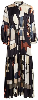MUNTHE Emmanuel Abstract Print Dress