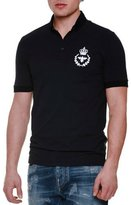 Dolce & Gabbana Short-Sleeve Polo Shirt with Crown/Bee Patch, Navy