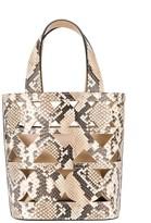 Casadei snakeskin-print perforated bucket bag