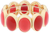 Liz Claiborne Orange and Gold-Tone Stretch Bracelet
