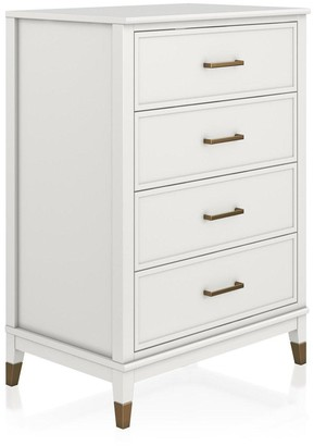 Cosmoliving Westerleigh 4 Drawer Chest - White