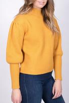 Do & Be Mustard Balloon Sleeve Sweater