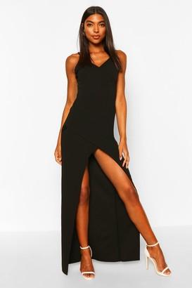 boohoo Tall Wrap Maxi Dress