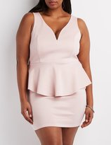 Charlotte Russe Plus Size Wired Notch Peplum Dress
