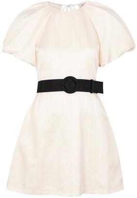 Rebecca Vallance Winona Ivory Satin Mini Dress