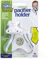 Baby Buddy Universal Pacifier Holder, White with Black Stitch by