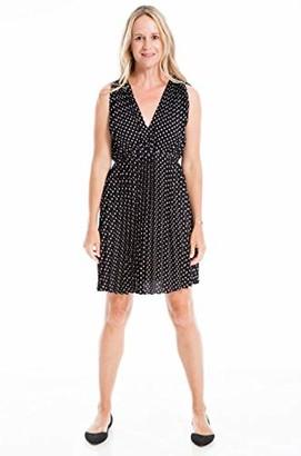 Max Studio Women's V-Neck Pleated Shift Dress