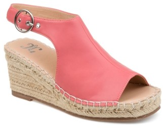 Journee Collection Crew Espadrille Wedge Sandal