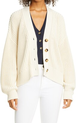 La Ligne Chunky Cotton Cardigan Sweater