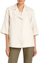 Lafayette 148 New York Reba Half-Sleeve Topper, Tan