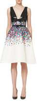 Carolina Herrera Sequined Sleeveless Cocktail Dress, Multicolor