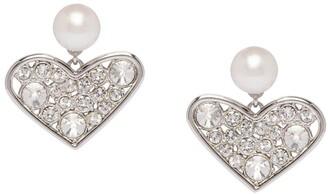 Miu Miu Micro Jewel heart earrings