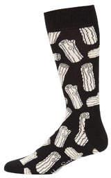 Happy Socks Men's Log-Print Crew Socks