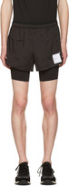 Satisfy Black Layered Long Distance Shorts