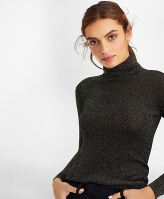 Brooks Brothers Sparkle-Knit Turtleneck