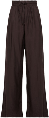 James Perse Cotton And Silk-blend Track Pants