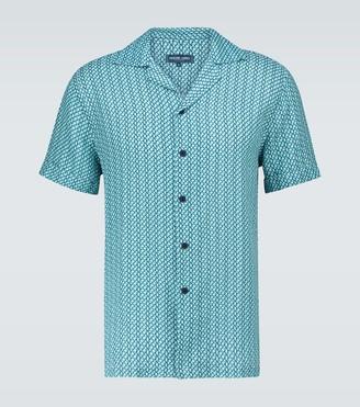 Frescobol Carioca Beam linen camp-collar shirt