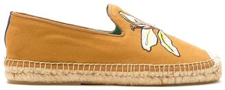 Blue Bird Shoes Lily-Embroidered Mismatch Espadrilles