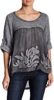 Luma Sequined Silk Panel Top