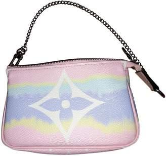 Louis Vuitton Pochette Accessoire Pink Cloth Clutch bags