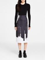 DKNY Silk Pencil Skirt