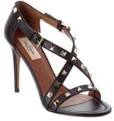 Valentino Rockstud Leather Heeled Sandal.
