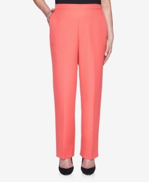 Alfred Dunner Plus Size Pull On Back Elastic Twill Proportioned Medium Pant