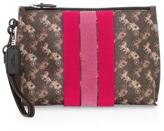 Coach Charlie Stripe Coated Canvas Pouch