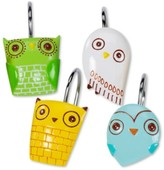 Creative Bath Accessories, Give a Hoot Shower Hooks, Set of 12