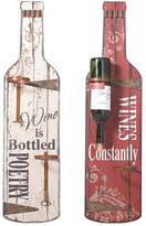 Foreside Home & Garden Wine Bottle Wall Racks - Set of 2