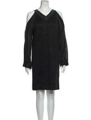 Brunello Cucinelli Linen Knee-Length Dress Grey