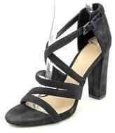 Pour La Victoire Womens Carla Leather Open Toe Ankle Strap Classic Pumps.