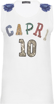 Dolce & Gabbana Embellished Cotton-Jersey T-shirt