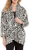 Natori Animal-Print Fleece Lounge Jacket