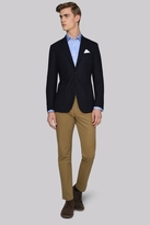 Hardy Amies Tailored Fit Navy Hopsack Jacket